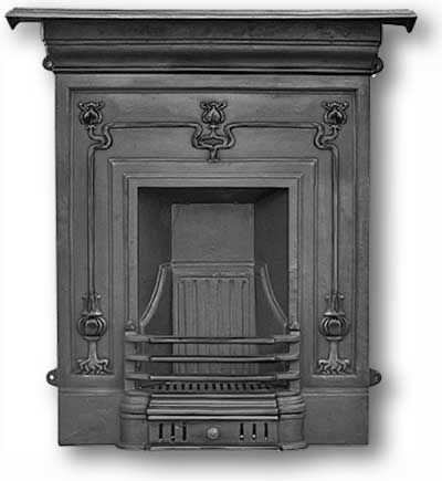 Winchester Complete Cast Iron Fireplace