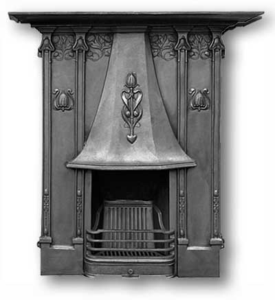 Classic Complete Cast Iron Fireplace